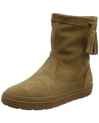 a62e3e5b41 Crocs™ Lodgepoint Suede Pull-on Boot Winter in Black - Lyst