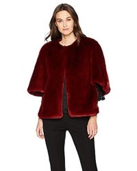 Adrianna Papell - Faux Fur Jacket - Lyst