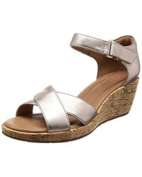 Clarks - Un Plaza Cross Ankle Strap Sandals - Lyst