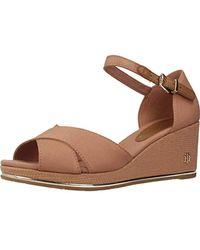 64806510b7 Tommy Hilfiger Feminine Wedge Sandal Basic Platform in Black - Lyst