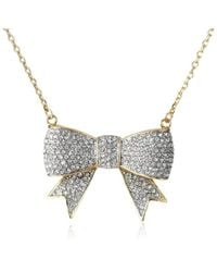 """Juicy Couture - Pave Bow Necklace, 16"""" - Lyst"""