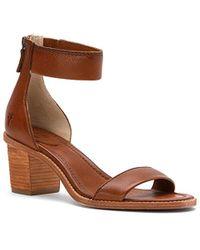 5e469df30c Lyst - Clarks Brielle Dacy Women Open Toe Leather Wedge Heel in Red