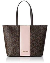 8a4d15b71d9 Calvin Klein - Mono Block Shopper Shoulder Bag - Lyst