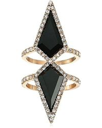 Guess - Update Cry Jet Glass Ring, Size 7 - Lyst