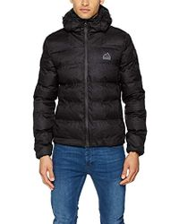 Superdry Echo Quilt Puffer Sports Jacket in Black for Men - Lyst 25d31347b887