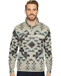 Lucky Brand - Shearless Fleece Aztec Mock Neck Sweater - Lyst