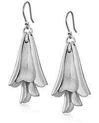 Lucky Brand - Petal Silver Drop Earrings - Lyst
