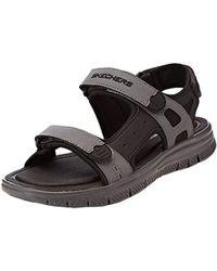 0c39b9b35b3d8 Lyst - Sandalias de piel Skechers de hombre desde 18 €