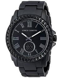 Vince Camuto - Vc/5191bkbk Swarovski Crystal Accented Matte Black Ceramic Bracelet Watch - Lyst