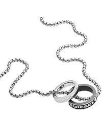 DIESEL Stainless Steel Pendant Necklace