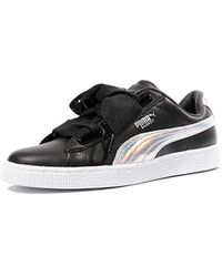 86e069b34aab PUMA - Basket Heart Patent Low-top Trainers - Lyst