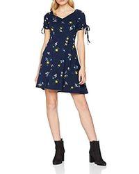 164b83c65f Dorothy Perkins Vila Navy Floral Print Shirt Dress in Blue - Lyst