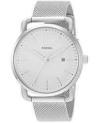 Fossil - Silvertone Small Round Face Bracelet Watch - Lyst