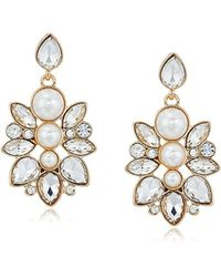 Guess - S Clustered Stone Drop Earrings - Lyst