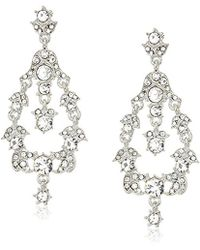Anne Klein - Silver Tone Orbital Drop Earrings - Lyst