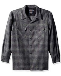 Pendleton - Classic Fit Long Sleeve Board Shirt, Oxford Grey/sage Ombre-31964, Md - Lyst