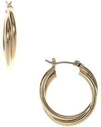 "Nine West - ""infinite Shine"" Twisted Clicktop Hoop Earrings - Lyst"