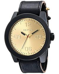 Nixon - Corporal Series Analog Quartz Watch / Leather Or Canvas Band / 100 M Water Resistant And Solid Stainless Steel Case - Lyst