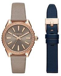 DIESEL Analogue Quartz Watch With Leather Strap Dz5563