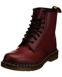 f5e6ca9f Amazon. Dr. Martens - Dr Martens Unisex 1460z Smooth Boots, Cherry Red -  Lyst
