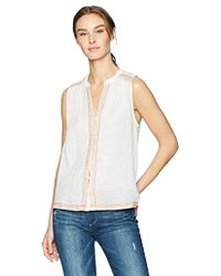 Lucky Brand - Embroidered Tank Top In Lucky White - Lyst