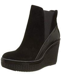 Calvin Klein - Sasha Suede/box Smooth Ankle Boots - Lyst