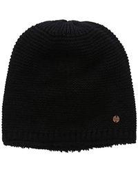 Lyst - Gorro de lana con pompón Moncler de color Negro 7765337c47a