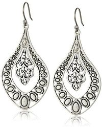 Lucky Brand - S Sahara Dust Filigree Oblong Earring - Lyst