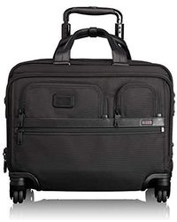 Tumi - Alpha 2 Carry-on Wheeled Laptop Deluxe Brief Briefcase - 15 Inch Computer Brief For And - Black