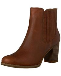 ce26f200c2a Timberland Stratham Heights Heeled Boots in Brown - Lyst