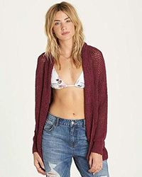 Billabong - Shake Down Dolman Sleeve Cardigan Sweater - Lyst