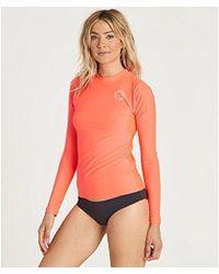 Billabong - Core Lose Fit Long-sleeve Swim Rashguard - Lyst