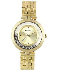 Ellen Tracy - Quartz Metal And Alloy Watch, Color:gold-toned (model: Et5199gd) - Lyst