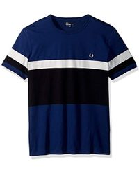 Fred Perry - Blocked Stripe T-shirt - Lyst