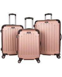 Kenneth Cole Reaction - Abs 8-wheel 3-piece Nested Set Luggage - Lyst