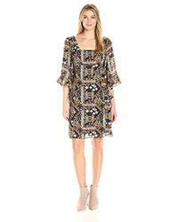 James & Erin - Caftan-sleeve Square-neck Dress - Lyst