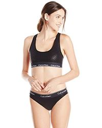 538febadeeae6 Lyst - Calvin Klein Qf1693 Modern Cotton Bralette   Bikini Panty ...