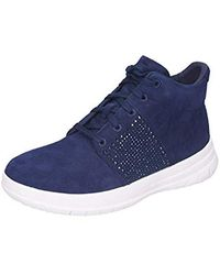 b20bb557e Fitflop - Sporty-pop X Crystal High-top Trainers Midnight Navy Uk5 Midnight  Navy