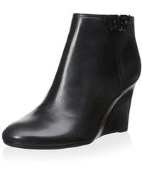 a6524c679022 Tory Burch - Lowell Wedge Bootie - Lyst