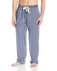 Izod - Cotton Textured Yarn-dye Woven Sleep Pant - Lyst