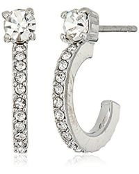 Vince Camuto - Dainty Light Rhodium Studded Earrings - Lyst