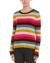 Pam & Gela - Distressed Rib Trim Wool Sweater - Lyst