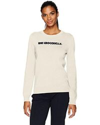 Lacoste - Crew Neck Interlock Une Crocodelle Sweater - Lyst