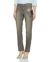 Bandolino - Millie Curvy Slim Straight 5 Pocket Jean - Lyst