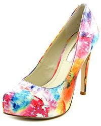 417dc7305a0 BCBGeneration - Parade Women Open Toe Synthetic Multi Color Platform Heel -  Lyst
