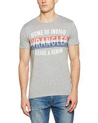 Wrangler - S s Americana Tee Mid Grey Mel T-shirt - Lyst af3fd78a97c