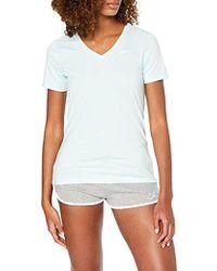 Nike - Superstar, Sport Shirt Donna, Verde (Teal Tint/White 336), Small - Lyst