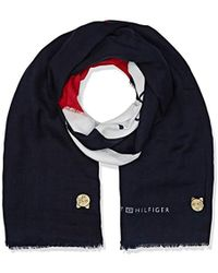 Tommy Hilfiger - Chevron Mascot Scarf Trilby Hat, Brown (corporate 901), One (manufacturer Size: Os) - Lyst
