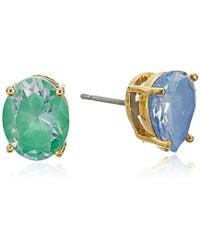Kate Spade - Asymmetrical Studs Flying Colors Asymmetrical Stud Earrings - Lyst