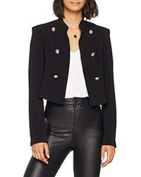 22d91aa09724a2 Guess Giacca Gaia Blazer Coat in Black - Lyst
